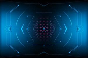 Abstract futuristic triangle HUD.vector and illustration vector