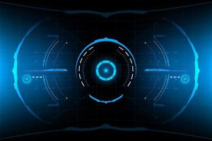 Abstract futuristic round HUD