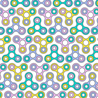 Línea plana Fidget Spinner de patrones sin fisuras