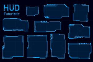 Futuristic HUD abstract set