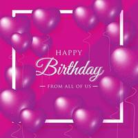 Happy Birthday celebration typography design for greeting banner