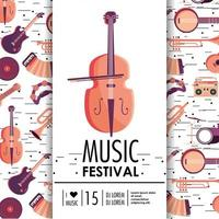 violin and instruments to music festival event