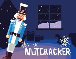 nutcracker general med träd jul
