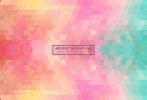 Abstract triangle pattern colorful vintage background