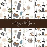 Dark Christmas pattern collection