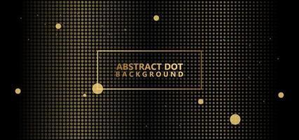 Gold Abstract Polka Dots Pattern