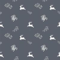 Winter holiday seamless repeat pattern