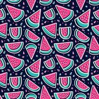 watermelon slice colorful tropical fresh fruit seamless pattern