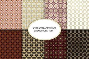 Abstract Vintage Geometric Pattern vector