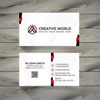 Creative Red and Black Business Card