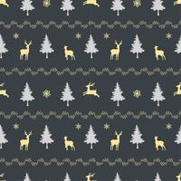 Modello senza cuciture di vacanza di Natale con la famiglia di cervi su sfondo scuro
