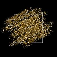 Gold glitter background with white frame