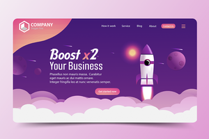 Boost Business Rocket Website Landing Page