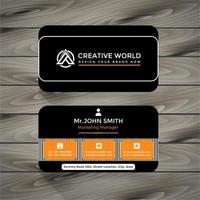 black and striped elegant business card vector