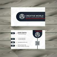 diseño de tarjeta de visita en blanco y negro vector