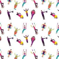 circus fun fair pattern background vector