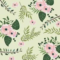 tropical flowers with branches leaves background vector