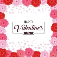 happy valentine day celebration with flowers