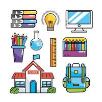 set school education supplies to study