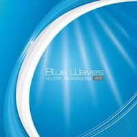 Conception de vagues bleues.