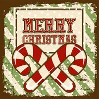 Merry Christmas Vintage Signage Poster Rustic