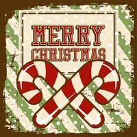 Poster segnaletica vintage di buon Natale rustico