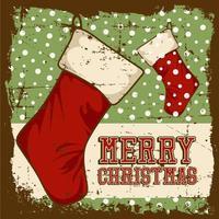 Cartel de señalización vintage de feliz Navidad vector