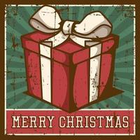 Cartel de señalización vintage de feliz Navidad rústico vector