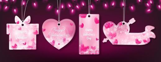 Four banners of valentine's day templates
