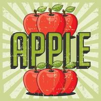 Apple Vintage Retro Signage Vector