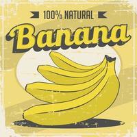 Banana Vintage Retro Señalización vector