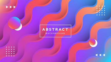 Gradient wave and geometric shape abstract background