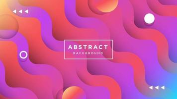 Gradient Wave Background Design with Circle Shapes
