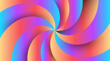 Gradient pinwheel abstract modern background