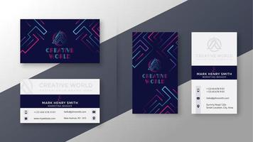 elegant business card template set