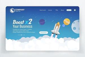 Website Ranking Landing Page with Space Theme