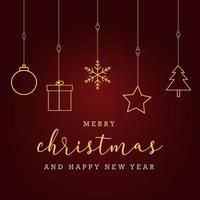 Beauiful christmas ornament background with greeting text