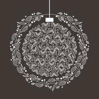merry christmas ornament decoration vector