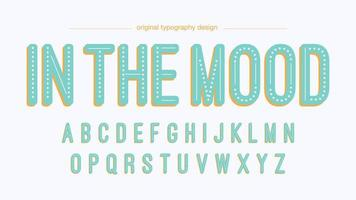 Light Blue Vintage Dotted Typography