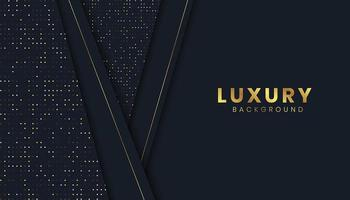 Luxury Background with Gold Paper Cut Effect