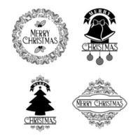 merry christmas badge set