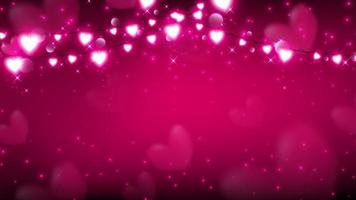 Abstract valentine background with fairy lights