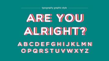 Colorful Shadow Effect Artistic Font vector