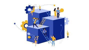 Leader des employés, création d'une conception d'entreprise virtuelle