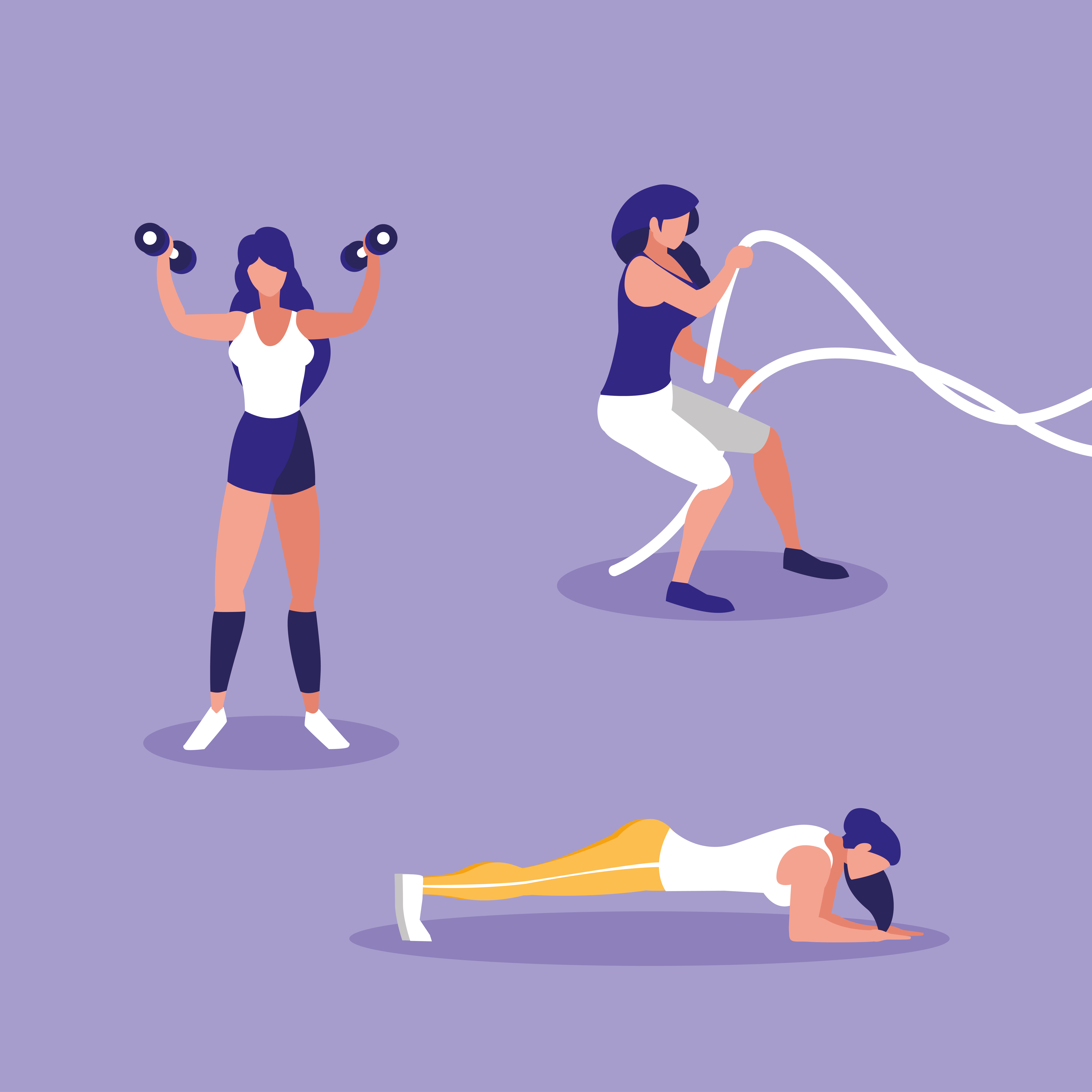 Group Of Athletic Women Exercising Download Free Vectors Clipart Graphics Vector Art Women in wwe women young women fit national council of negro women women clothing women in engineering women accessories fit for women gym ltd. vecteezy