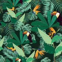 Greenery leaves seamless pattern