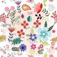 Jardín de flores de primavera verano