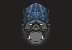 gorilla head vector illustration