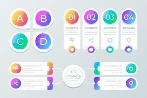 Zakelijke infographics elementen