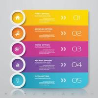 Zakelijke optie infographics elementen